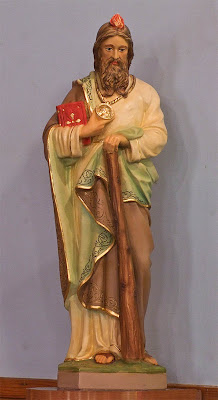 Saint Stephen Roman Catholic Church, in Richwoods, Missouri, USA - statue of Saint Jude Thaddeus