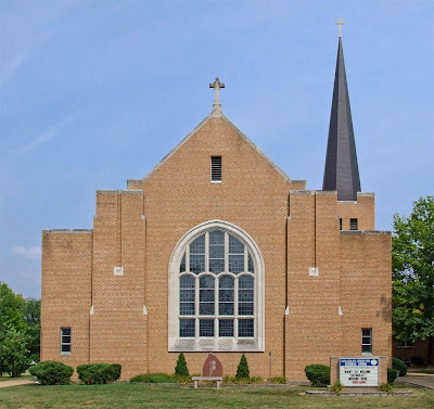 Immaculate Conception Roman Catholic Church, in Union, Missouri, USA - exterior