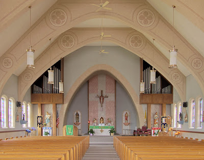 Immaculate Conception Roman Catholic Church, in Union, Missouri, USA - nave