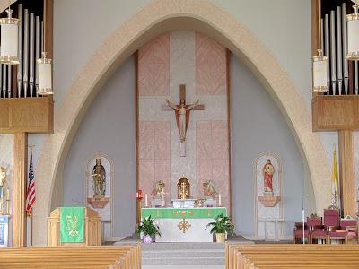 Immaculate Conception Roman Catholic Church, in Union, Missouri, USA - sanctuary