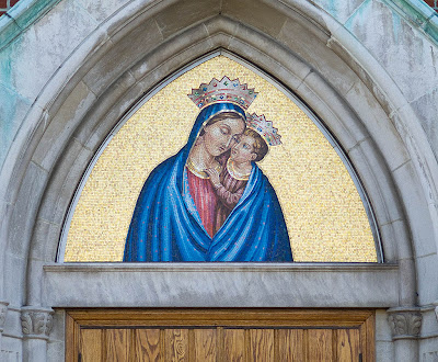 Saint Mary's Roman Catholic Church, in Belleville, Illinois, USA - mosaic