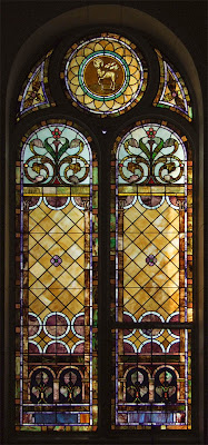 Saint Joseph Roman Catholic Church in Neier, Missouri, USA - stained glass window