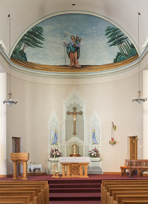 Saint Joseph Roman Catholic Church in Neier, Missouri, USA - sanctuary