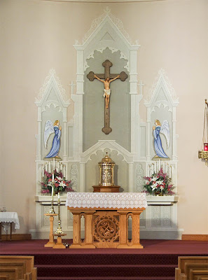 Saint Joseph Roman Catholic Church in Neier, Missouri, USA - altar