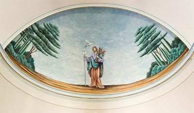 Saint Joseph Roman Catholic Church in Neier, Missouri, USA - painting of Saint Joseph in apse