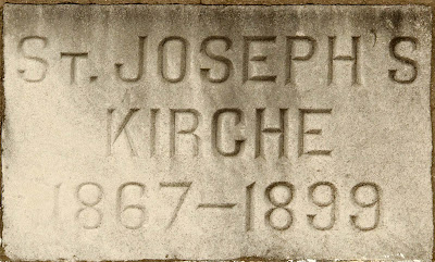 Saint Joseph Roman Catholic Church in Neier, Missouri, USA - cornerstone