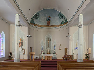 Saint Joseph Roman Catholic Church in Neier, Missouri, USA - nave