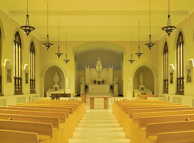 Fontbonne University, in Clayton, Missouri, USA - chapel interior