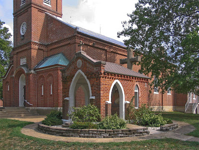Photos of Saint John the Baptist Roman Catholic Church, in Gildehaus, Missouri, USA - church and Marian shrine