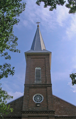 Photos of Saint John the Baptist Roman Catholic Church, in Gildehaus, Missouri, USA - tower