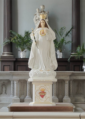 Basilica of Saint Louis, King of France, in Saint Louis, Missouri, USA - statue of the Blessed Virgin Mary under the title of Our Lady of America
