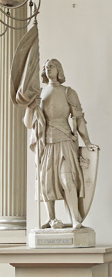Basilica of Saint Louis, King of France, in Saint Louis, Missouri, USA - statue of Saint Joan of Arc