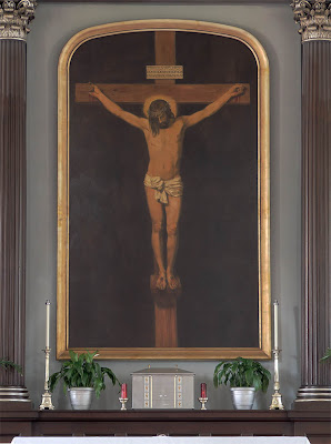 Basilica of Saint Louis, King of France, in Saint Louis, Missouri, USA - crucifixion painting