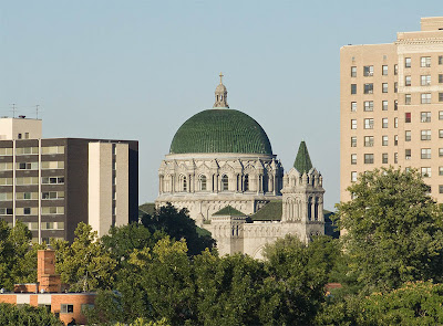 Cathedral Basilica of Saint Louis, in Saint Louis, Missouri, USA - exterior view from a distance