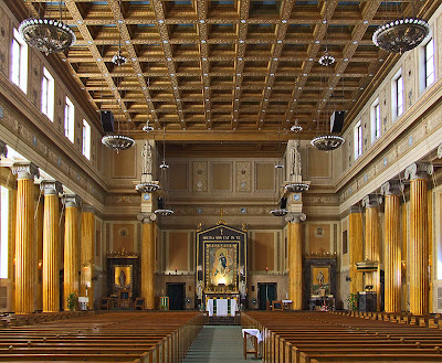Immaculate Conception Cathedral, in Springfield, Illinois, USA - nave