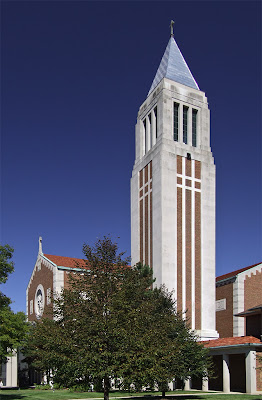 Cathedral of Saint Raymond Nonnatus, in Joliet, Illinois, USA - exterior with tower