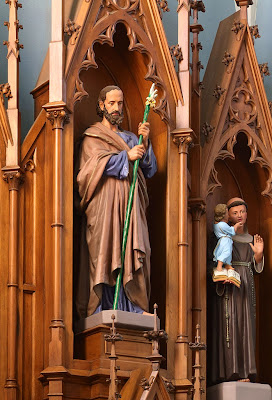 Saint Joseph Roman Catholic Church, in Chenoa, Illinois, USA - Saint Joseph and Saint Anthony of Padua
