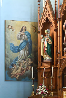 Saint Joseph Roman Catholic Church, in Chenoa, Illinois, USA - Mary Immaculate and Saint Patrick