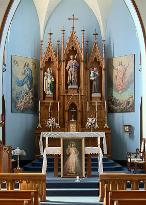 Saint Joseph Roman Catholic Church, in Chenoa, Illinois, USA - altar