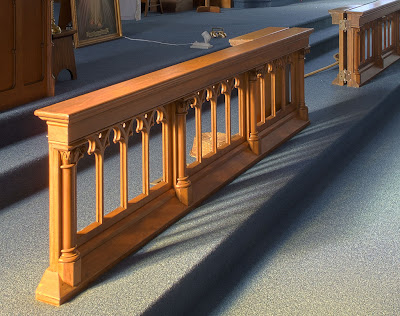 Saint Joseph Roman Catholic Church, in Chenoa, Illinois, USA - communion rail