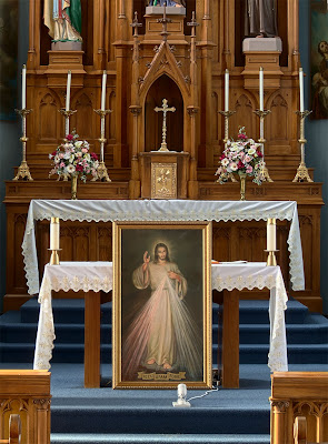 Saint Joseph Roman Catholic Church, in Chenoa, Illinois, USA - Divine Mercy