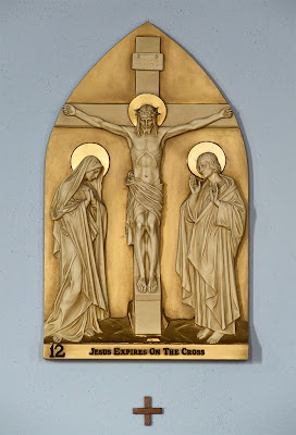 Saint Joseph Roman Catholic Church, in Chenoa, Illinois, USA - station of the cross