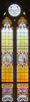Saint Joseph Roman Catholic Church, in Chenoa, Illinois, USA - stained glass window
