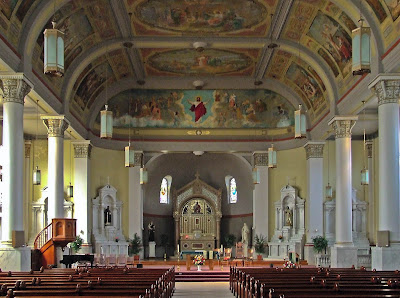 Saints Teresa and Bridget Church, in Saint Louis, Missouri, USA - nave
