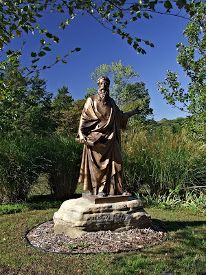 Saint James Roman Catholic Church, in Catawissa, Missouri, USA - statue of Saint James