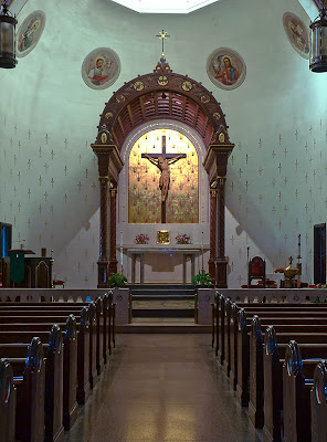 Saint George Roman Catholic Church, in Affton, Missouri, USA - sanctuary