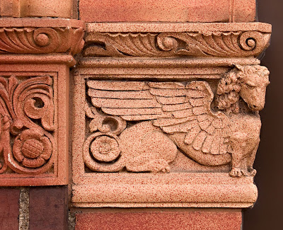 Saint George Roman Catholic Church, in Affton, Missouri, USA - winged lion of Saint Mark