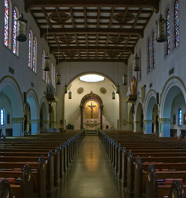 Saint George Roman Catholic Church, in Affton, Missouri, USA - nave