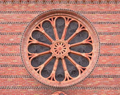 Saint George Roman Catholic Church, in Affton, Missouri, USA - rose window