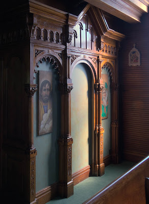 Saint James Roman Catholic Church, in Catawissa, Missouri, USA - Confessional