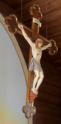 Saint James Roman Catholic Church, in Catawissa, Missouri, USA - crucifix