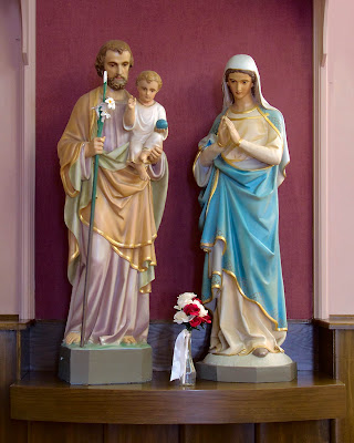 Sacred Heart Roman Catholic Church, in Crystal City, Missouri, USA - The Holy Family