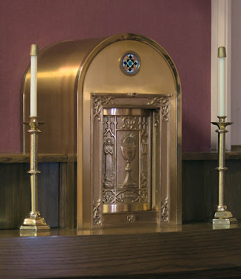 Sacred Heart Roman Catholic Church, in Crystal City, Missouri, USA - tabernacle