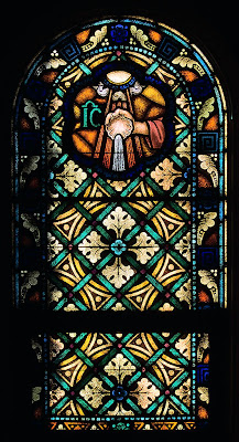 Sacred Heart Roman Catholic Church, in Crystal City, Missouri, USA - Stained glass window