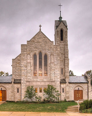All Souls Roman Catholic Church, in Overland, Missouri, USA - exterior