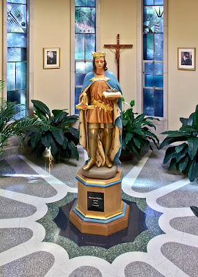 Saint Peter Roman Catholic Church, in Kirkwood, Missouri, USA - baptistery