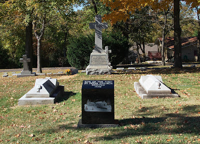 Saint Peter Roman Catholic Cemetery, in Kirkwood, Missouri, USA - graves of priests of Saint Peter Parish