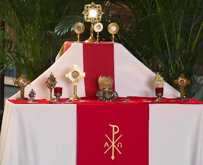 Saint Peter Roman Catholic Church, in Kirkwood, Missouri, USA - relics