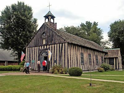 Holy Family Roman Catholic Log Church, in Cahokia, Illinois, USA - exterior