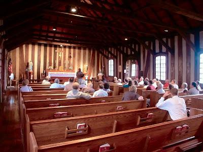 [Image: Holy+Family+Roman+Catholic+Log+Church,+i...-+nave.jpg]