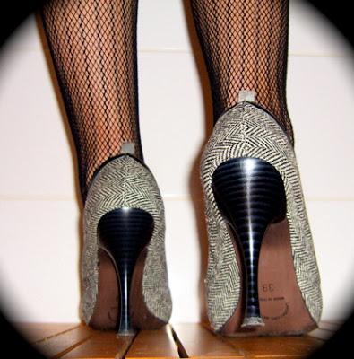 4 inch gray high heels