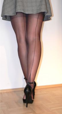 my highest high heels, nylons