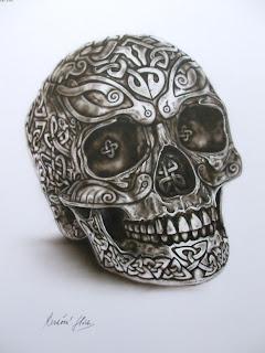 Celtic skull i., ii., iii. - keltské lebky (airbrush)
