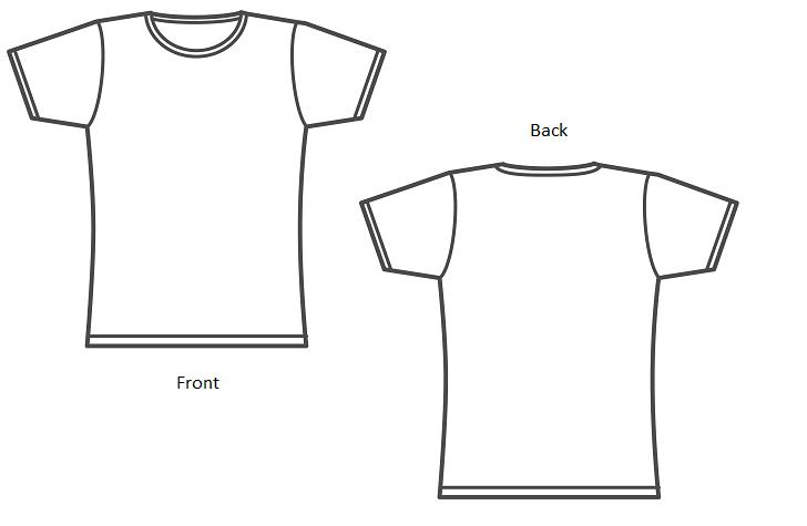 create a t shirt template - t shirt front and back template joy studio design