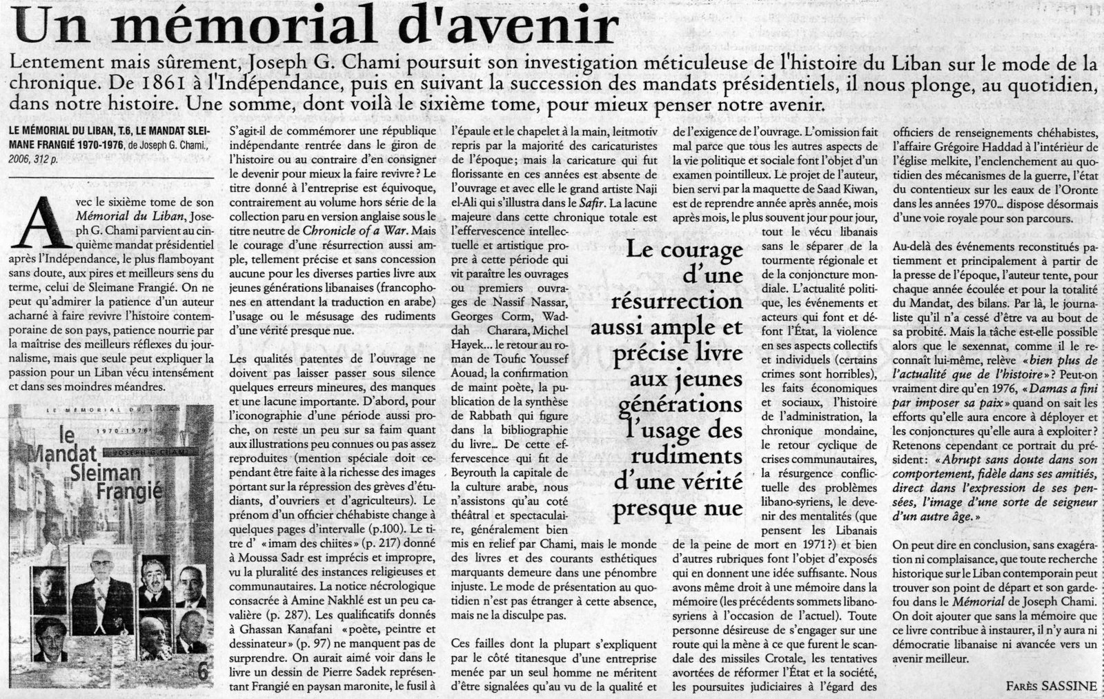 Article Fares Sassine