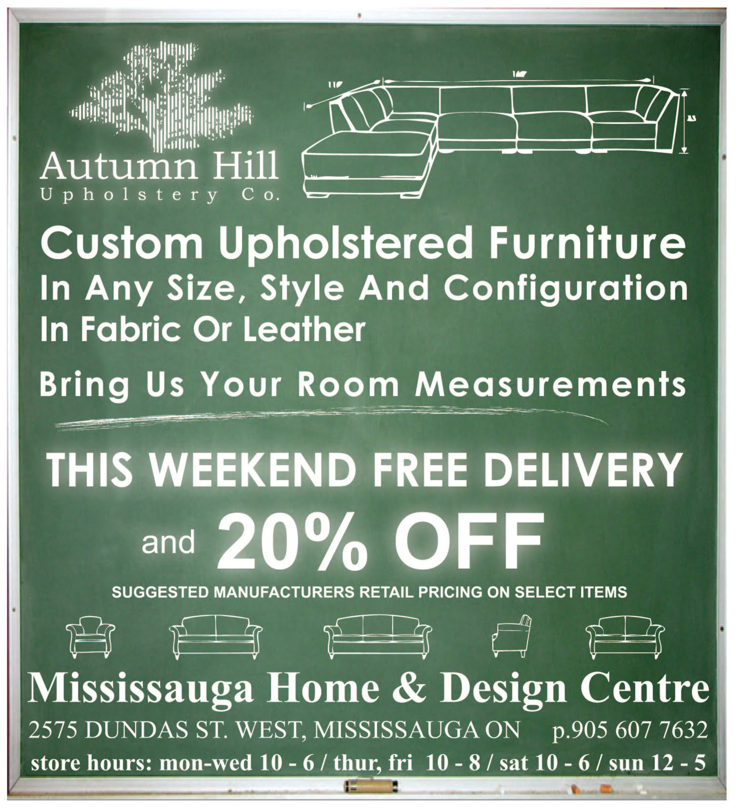 Free Furniture Mississauga Autumn Hill Upholstery Co